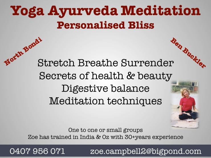 Yoga Ayurveda Class
