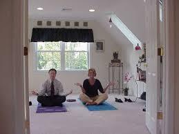 yoga home man woman