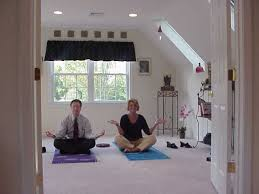 yoga home man woman